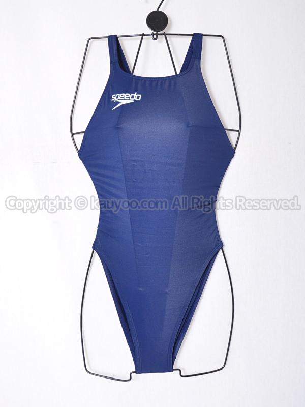 【買取】speedoファーストスキンXT-Wレースカット競泳水着SCW01920N別注ネイビー