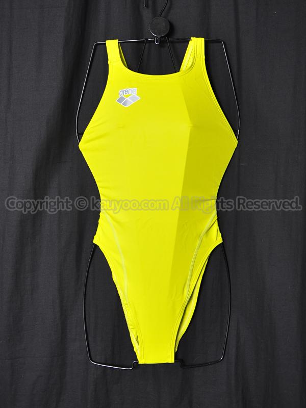 【買取】arenaアリーナnux-DリミックARN-5002Wハイカット競泳水着KGRN
