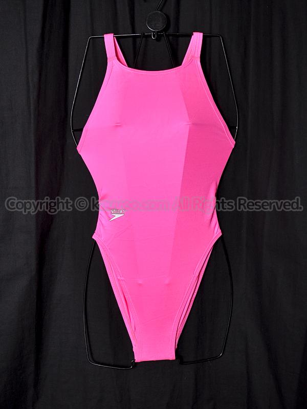 【買取】旧SPEEDOアクアスペック光沢マーキュライン競泳水着ピンク