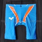 アリーナaile-blueエールブルーARN-V4508ハーフスパッツ競泳水着ブルー×オレンジ