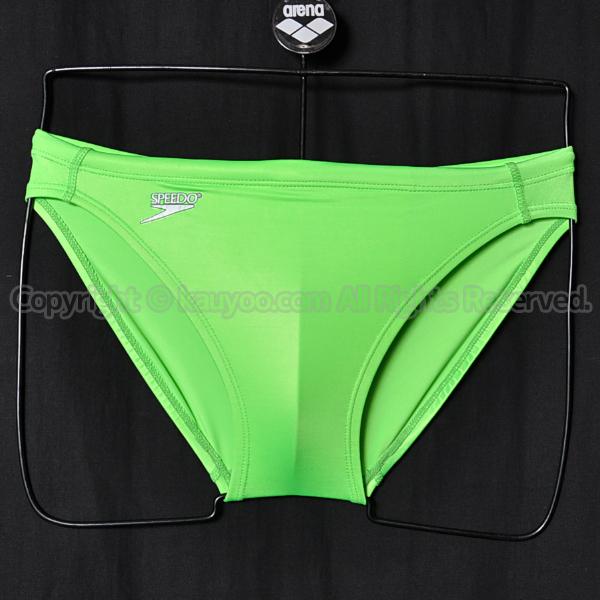 【買取】旧SPEEDOアクアスペック光沢ブーメラン競パン競泳水着ネオングリーン
