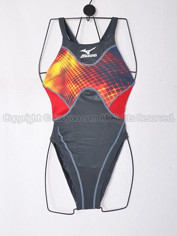 【買取】mizunoマイティライン85OD-80107ハイカットASアクセルスーツ競泳水着チャコール