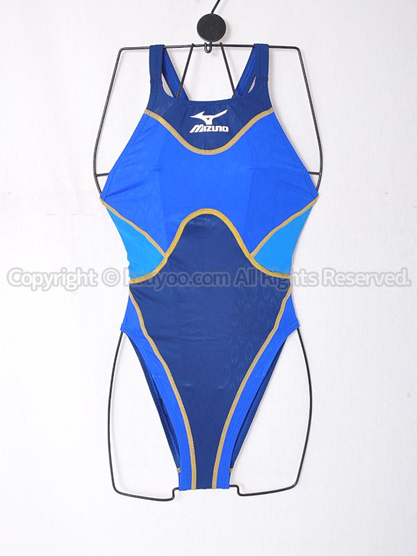 【買取】mizunoマイティライン85OD-78027ハイカットASアクセルスーツ競泳水着ブルー×ネイビー