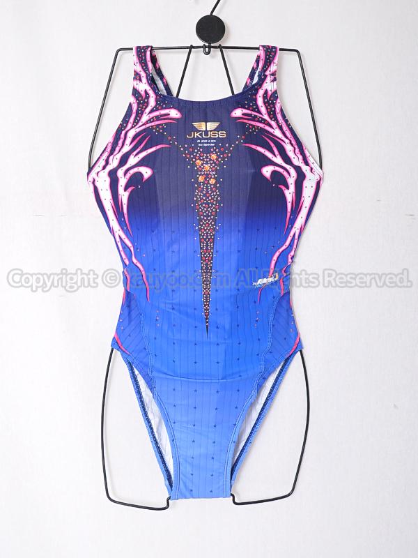 【買取】JKUSSジェイコスPROGRESSIVEハイカット競泳水着PRO-606Wブルー
