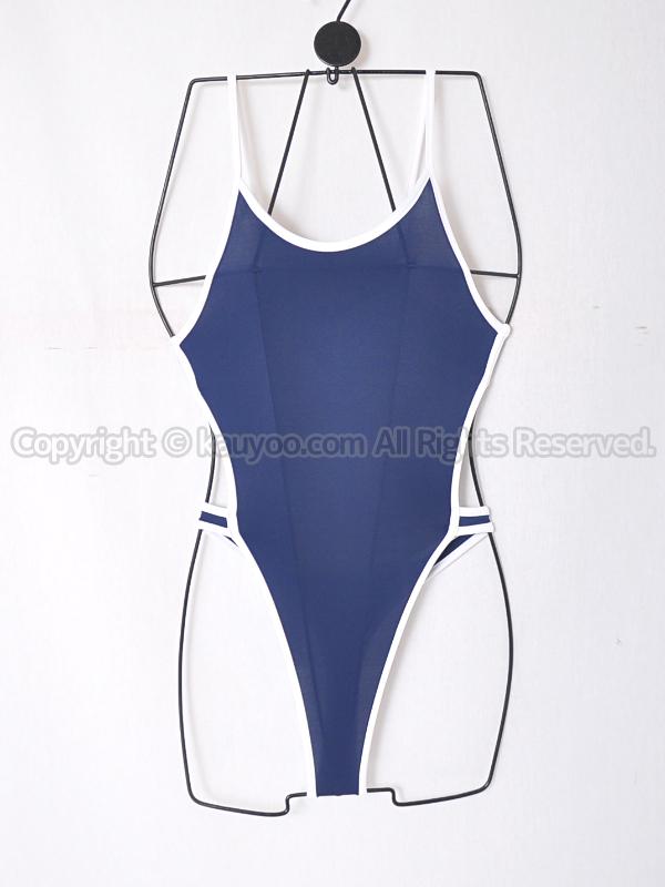 【買取】PredatorRatプレデターラットswi-0003ハイレグTバック競泳水着風コス ネイビー