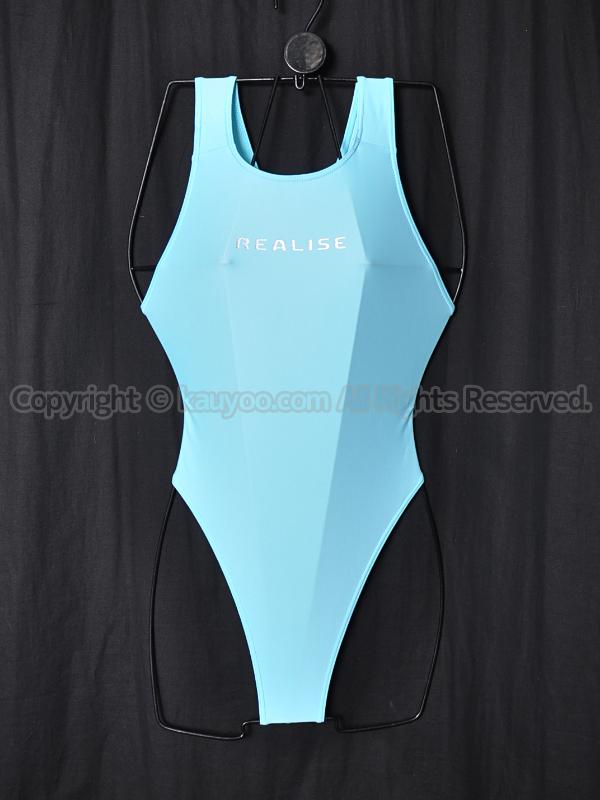 【買取】REALISEリアライズWカレンダー加工ハイレグTバック競泳水着コスT-111ベビーブルー