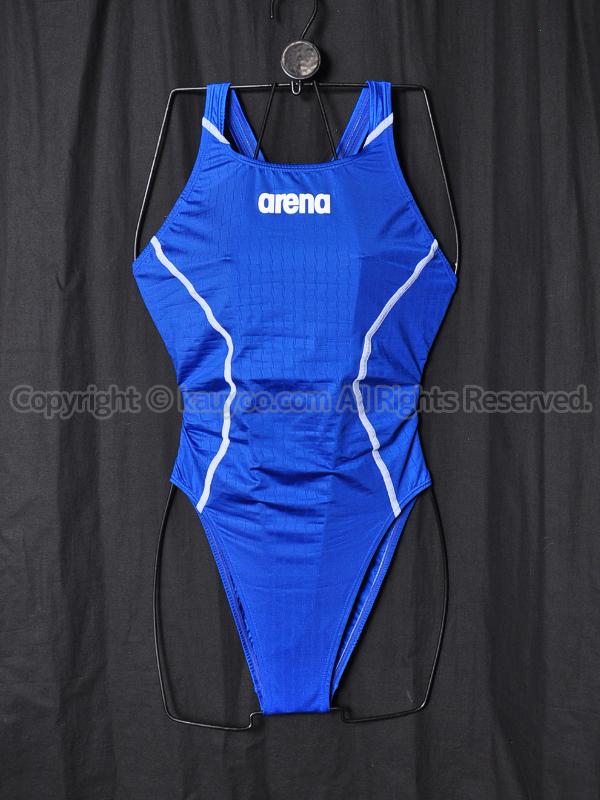 【買取】arenaアリーナ別注X-PYTHON2リミックFina承認競泳水着Dブルー×ホワイトOAR7021WN