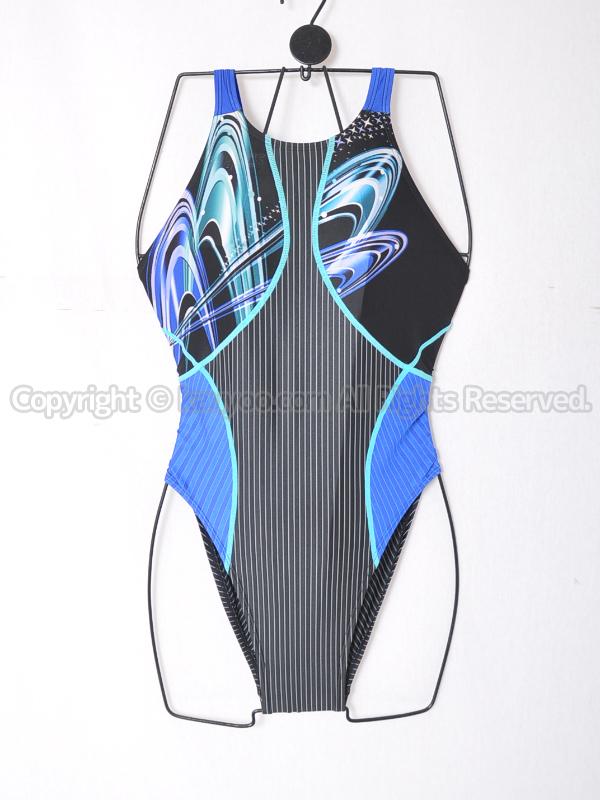 【買取】asicsアシックスTLINER ZERO-Xホールドカット競泳水着AL1222ブラック×ブルー