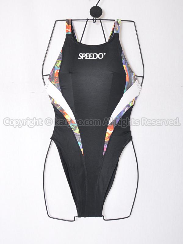 【買取】旧SPEEDOスピード アクアスペック マーキュライン競泳水着ブラック切替