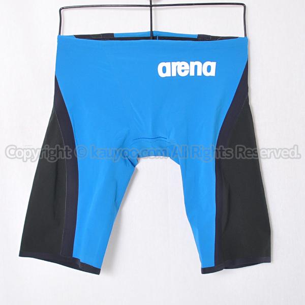 【買取】arenaアクアフォースD-FLEXハーフスパッツ競泳水着Fina承認ARN-5003Mブルー