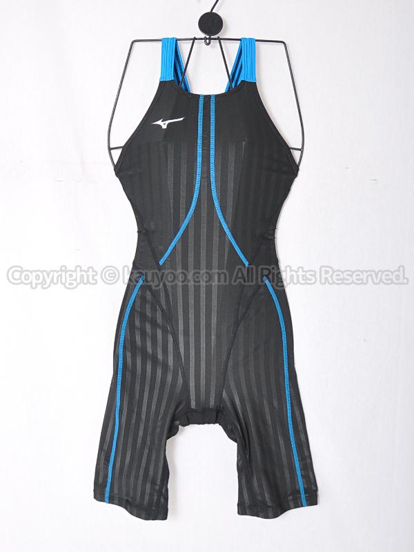 【買取】mizunoストリームアクセラFina承認ハーフスーツ競泳水着N2MG822391ブラック×ブルー