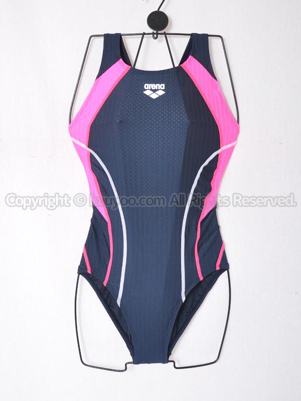 【買取】arenaアリーナAQUA RACING Diamond Flex-STセイフリーバック競泳水着ARN-0054W NVPK