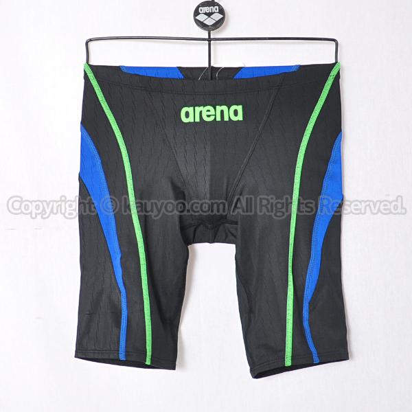 【買取】arenaアリーナX-PYTHON2メンズスパッツ競泳水着ARN-0032Mブラック×ブルー