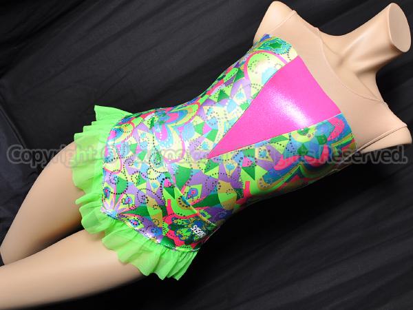 【買取】SASAKIササキ新体操スカート付きレオタード7368Sグリーン