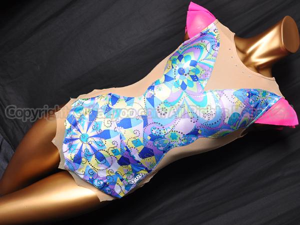 【買取】SASAKI ササキ 新体操スカート付きレオタード ブルー柄