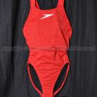 SPEEDOスピードDrag Suitsパンチングメッシュ素材トレーニング競泳水着レッド