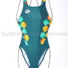 arenaアリーナnux-fスイムテック21競泳水着FAR-8537WLグリーン