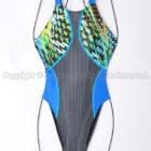 asicsアシックスTLINER ZERO-Xホールドカット競泳水着AL1242ブラック×ブルーグリーン
