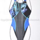asicsアシックスTLINER ZERO-Xホールドカット競泳水着AL1222ブラック×ブルー